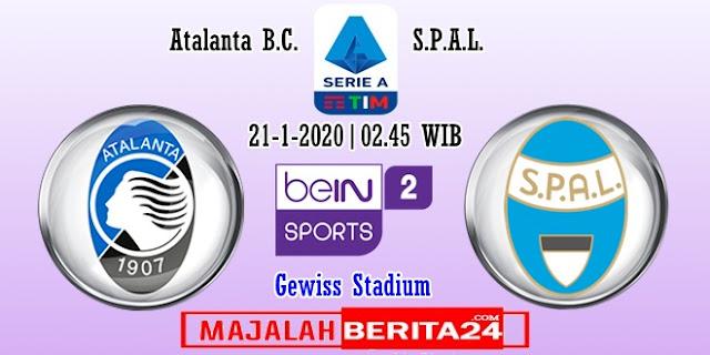 Prediksi Atalanta vs SPAL — 21 Januari 2020