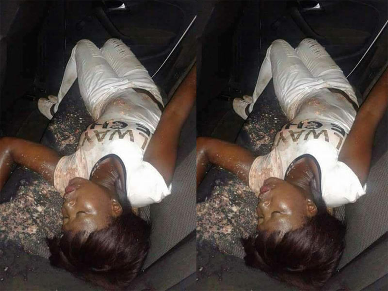 Graphic: Lady swims in her own vomit after getting drunk in Owerri club