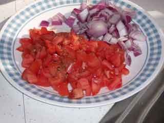sauce veggies