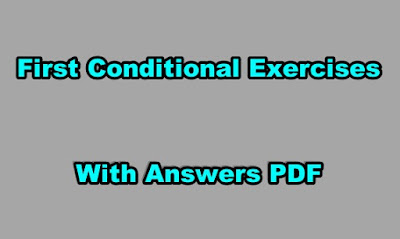 First Conditional Exercises with Answers PDF