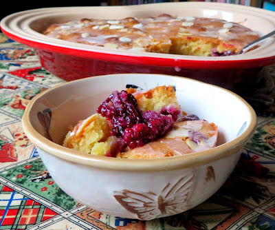 Blackberry Bakewell Pudding