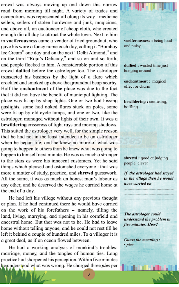 An Astrologer's Day [Latest edition] English Yuvakbharati 12th Standard HSC Maharashtra State Board chapter 1