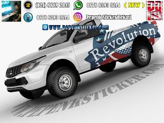 Mobil,Mitsubishi,Triton,Cutting Sticker Bekasi,Decal,sticker mobil,Toyota Hilux,ford ranger,jakarta,Bekasi,