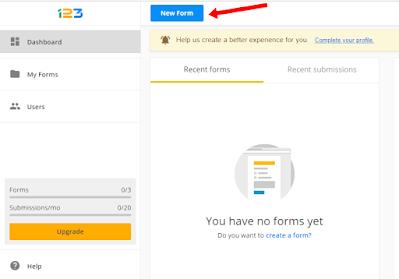 new form 123formbuilder