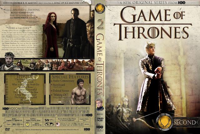 Capa DVD Game Of Thrones Segunda Temporada Completa