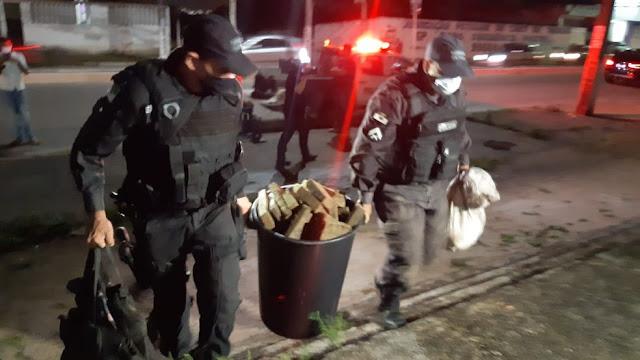 Polícia apreende 180 quilos de drogas, fuzil e outras armas dentro de casa no RN