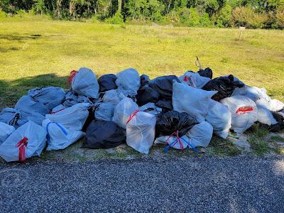 garbage bag pile