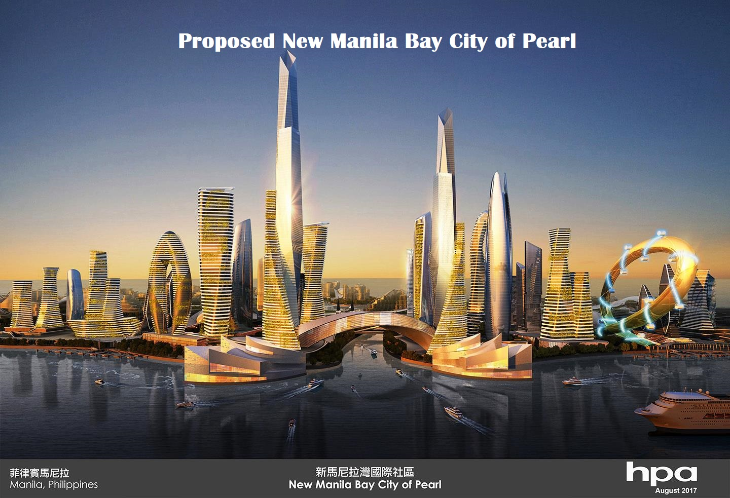 New Manila Bay City of Pearl, Philippines