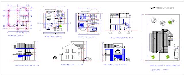 Full map frame - family house DWG