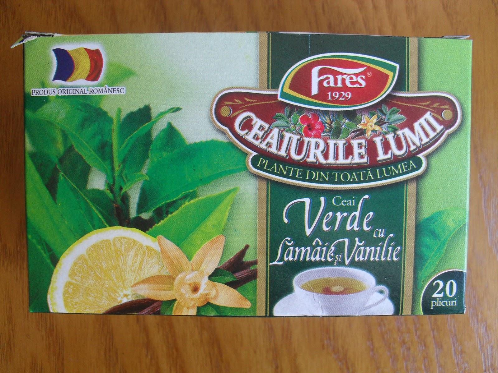 ceai verde cu lamaie si vanilie