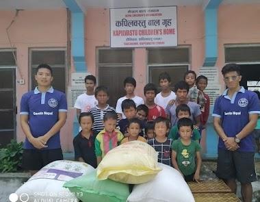 संस्थाको दोश्रो वार्षिक उत्सवको अवसरमा बालगृहलाई वार्षिक दुई क्विन्टल चामल दान