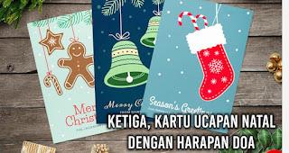 Kartu Ucapan Natal Dengan Harapan Doa