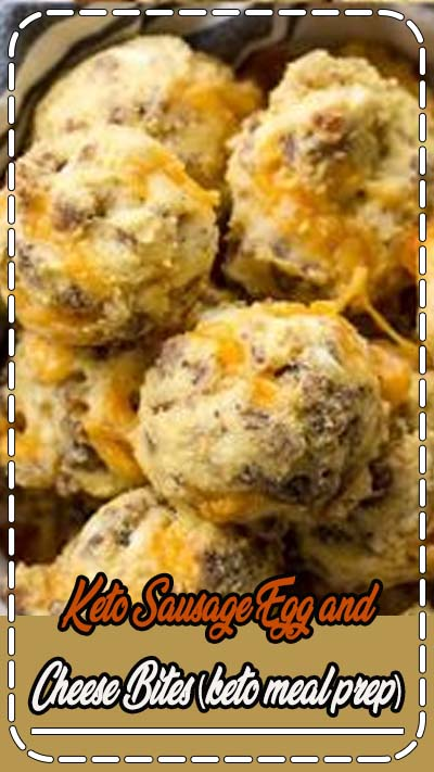 These Sausage Egg and Cheese Bites are the perfect low carb, grab and go, Keto friendly breakfast option! Perfect for an easy meal prep breakfast! #keto #lowcarb #mealprep
