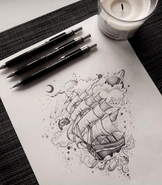 Create a unique tattoo design - ojibwe tattoo - anubis tattoo - ammonite tattoo