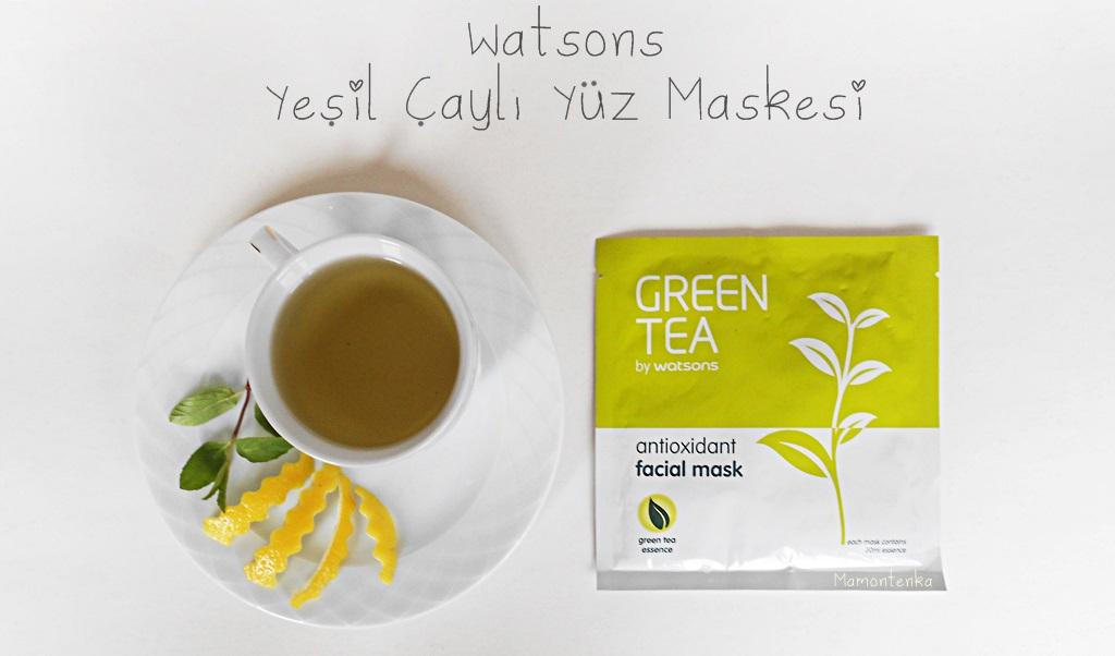 Yeşil Çaylı Maske