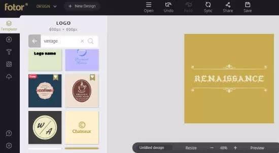Cara membuat logo vintage secara online-4