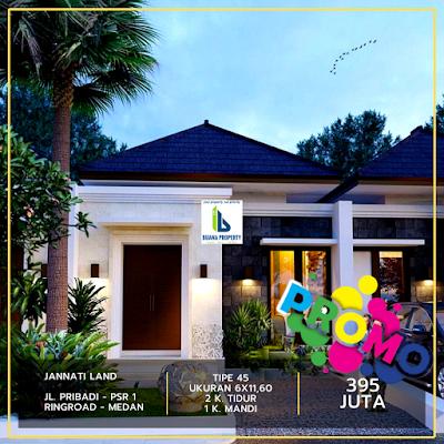 Rumah Cantik dan Mewah 300 Jutaan di Pasar 1 Setiabudi Ringroad Medan dekat sekolah Islam Namira - Cluster Jannati Land