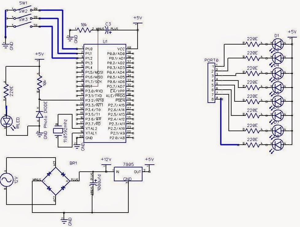 Propeller Clock using 8051 microcontroller Electronics circuits