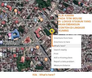 Cara Konversi Koordinat DM ke DMS pembuatan Gambar Peta Lokasi