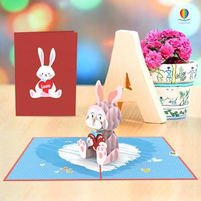 Pop up card Valentine