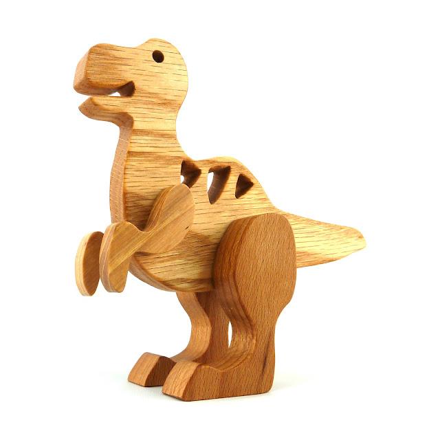 Toy Dinosaur, Allosaurus, Wood Toy Animal