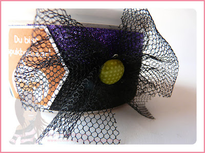 Stampin' Up! Rosa Mädchen Kulmbach Halloweenverpackung Dose Augapfel Kreisstanzen Eine Kiste voller Grüße Glitzerpapier Fliegengitter Tüll Brad