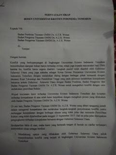 73 Dosen UKIT Tandatangani Pernyataan Sikap