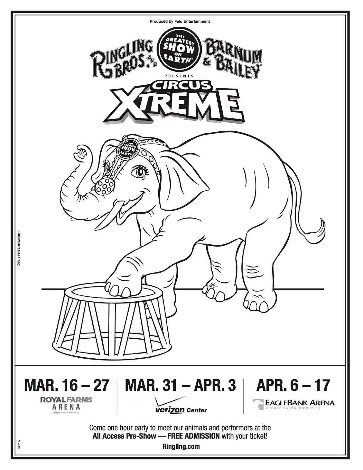 Prince William County Moms Circus Xtreme Coloring Page