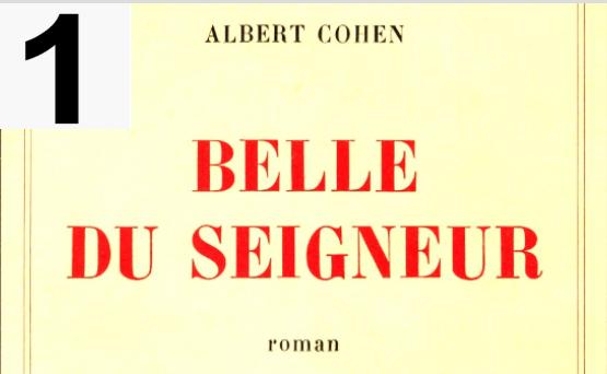 livres Belle du Seigneur de l'écrivain Albert Cohen