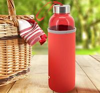 Logo Con Schär vinci gratis una delle 50 borracce rosse da picnic