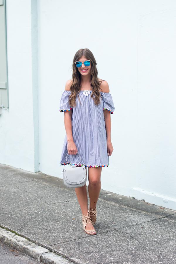 Pom Pom Dress & DIFF Eyewear | Chasing Cinderella