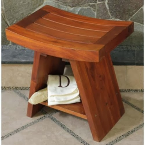 Dt101 Teak Shower Bench Features Asian Style Grace And Elegance Galvanized Stainless Steel Corrosion Resistant Hardware