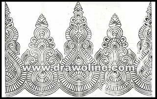 Border design drawing easy for embroidery sarees/ how to draw saree borders design's/ Sadi ka kinara drawing for embroidery