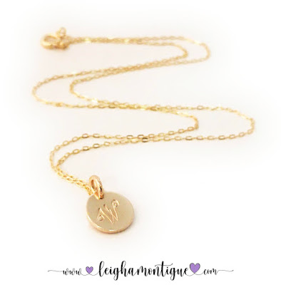 Gold Initial Charm Necklaces
