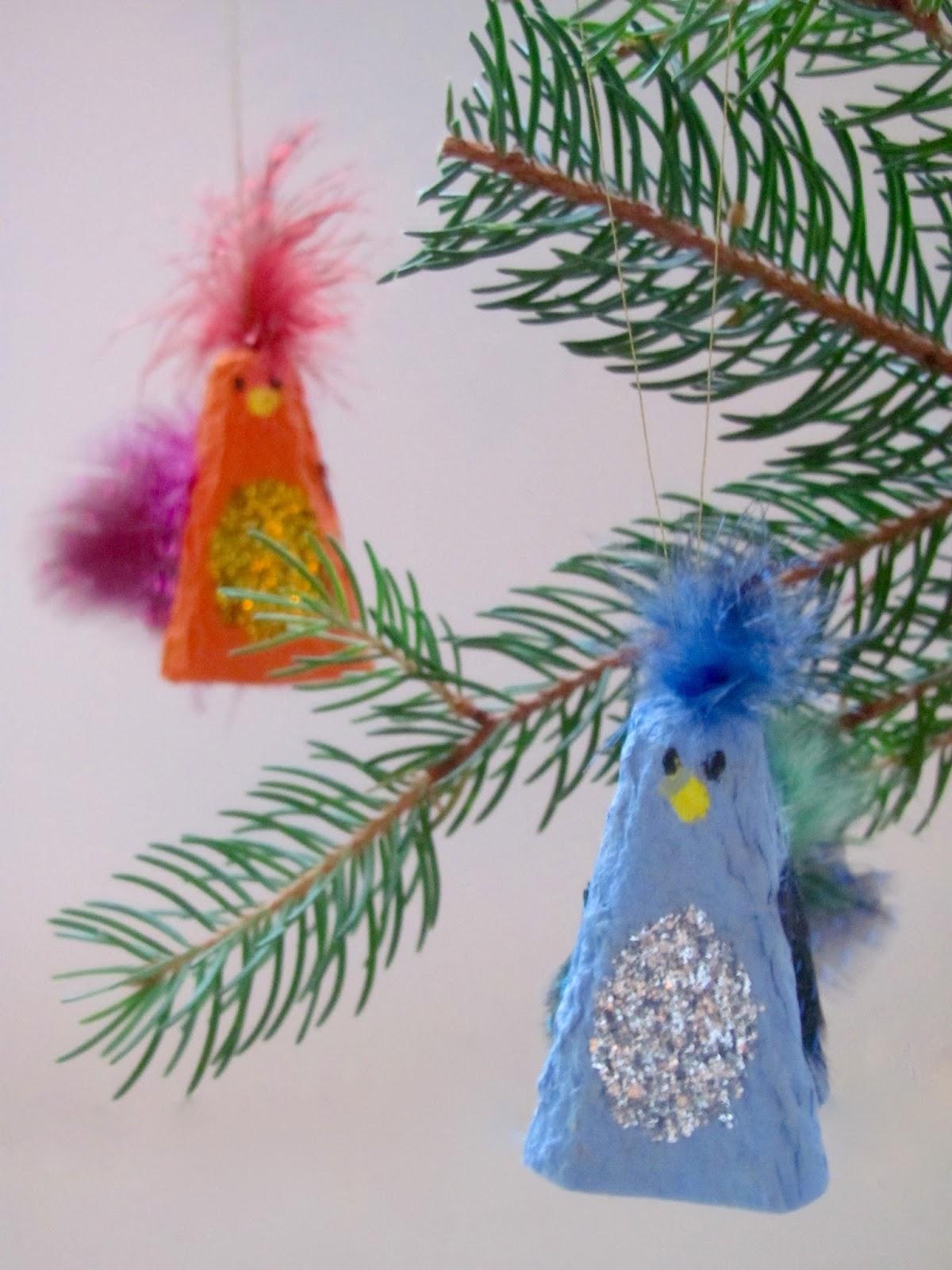 Christmas Tree Decorations Bird : Jumble tree sparkly bird decorations christmas crafts