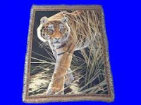 stalking tiger blanket throw tapestry afghan