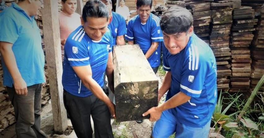 SERFOR entrega madera incautada a colegios ubicados en la Selva Central - www.serfor.gob.pe