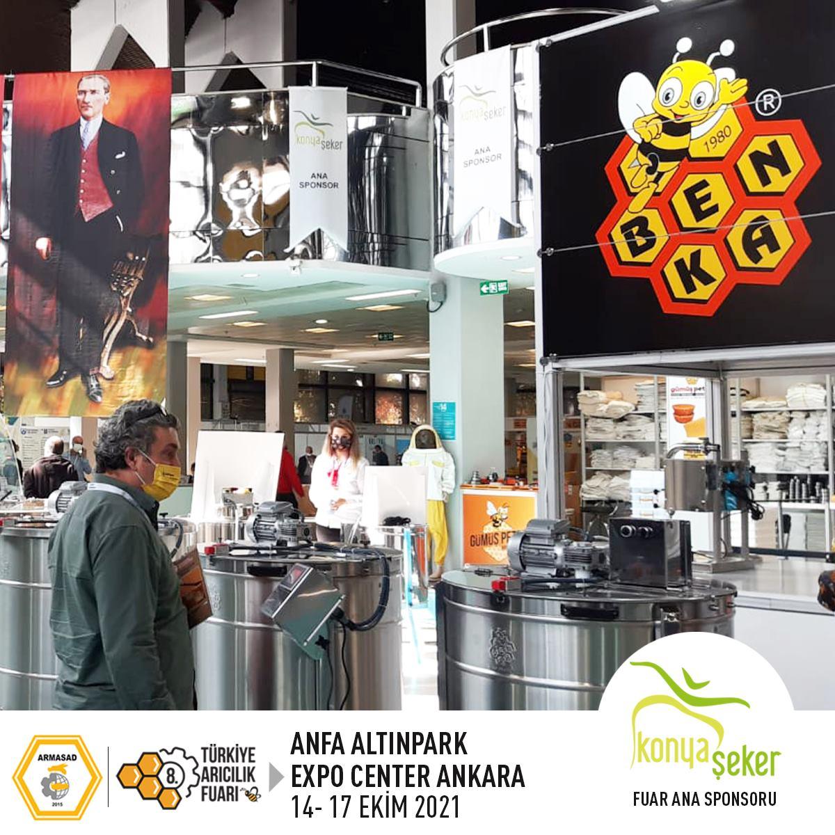 Armasad 8.Türkiye Arıcılık Fuarı 2021 ANKARA Altınpark fuar alanı, benka arıcılık