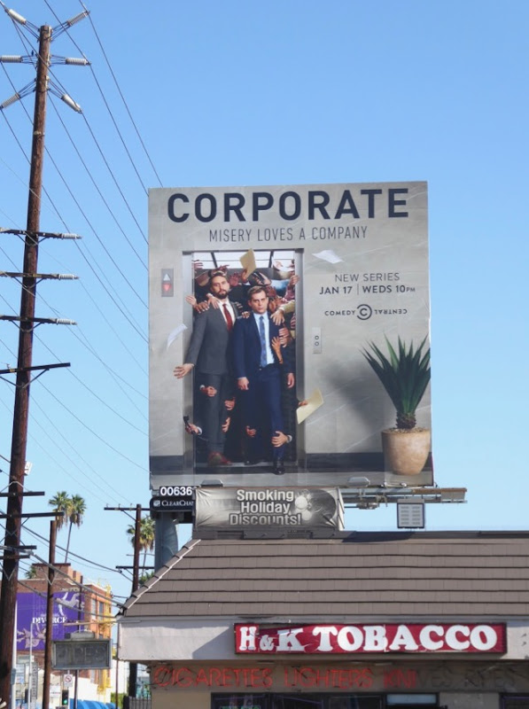 Corporate series launch billboard