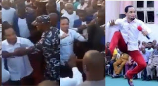 Why is he walking like someone with Coronavirus-  Nigerians reacts as Police pushes Prophet Odumeje from seeing Governor Ganduje