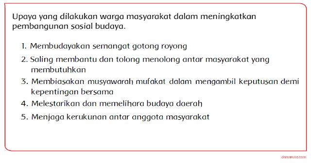 Kunci Jawaban Kelas 5 Tema 4 Upaya Warga Masyarakat Dalam Pembangunan Sosial Budaya Bertanyacara