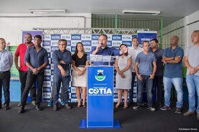 Prefeito de Cotia promete reformar 32 escolas, fornecer uniforme e material escolar neste ano
