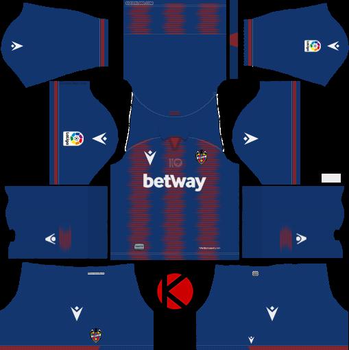 Levante UD 2019/2020 Kit - Dream League Soccer Kits