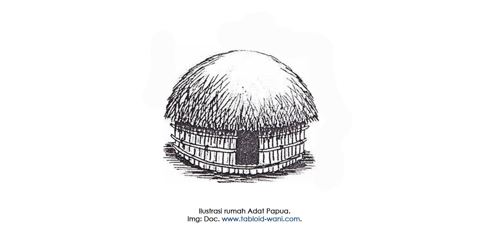 Gambar Mewarnai Rumah Adat Papua Gambar Mewarnai