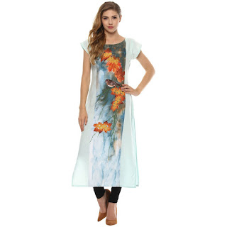 Ziyaa Multicolor Digital Print Kurti Rs. 599 by FashionDiya
