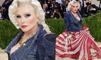 American Icon Debbie Harry Stuns At Last Nights Met Gala Looking Smokingly Patriotic In Custom Zac Posen!