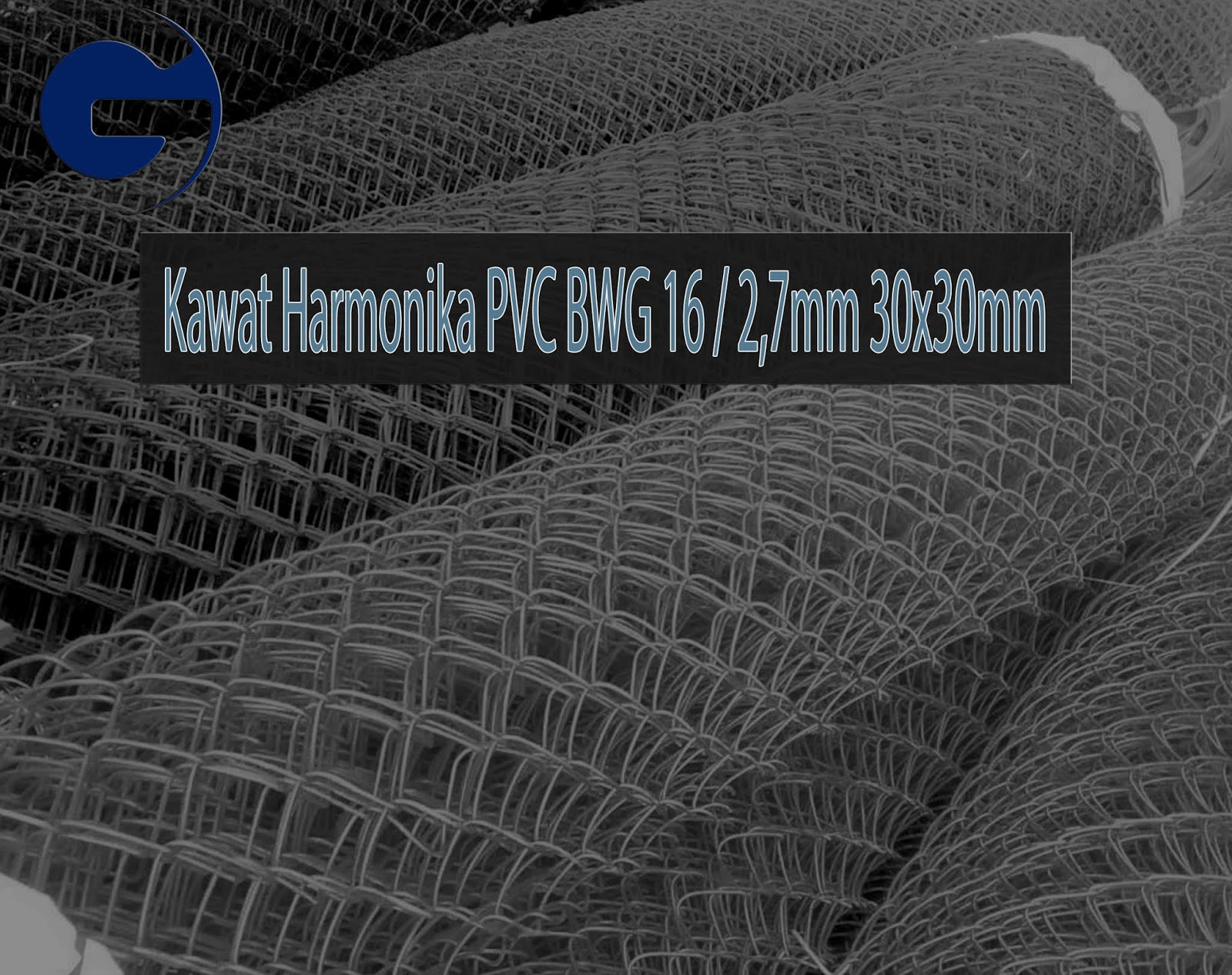 Jual Kawat Harmonika PVC SNI BWG 16/2,7mm 30x30mm