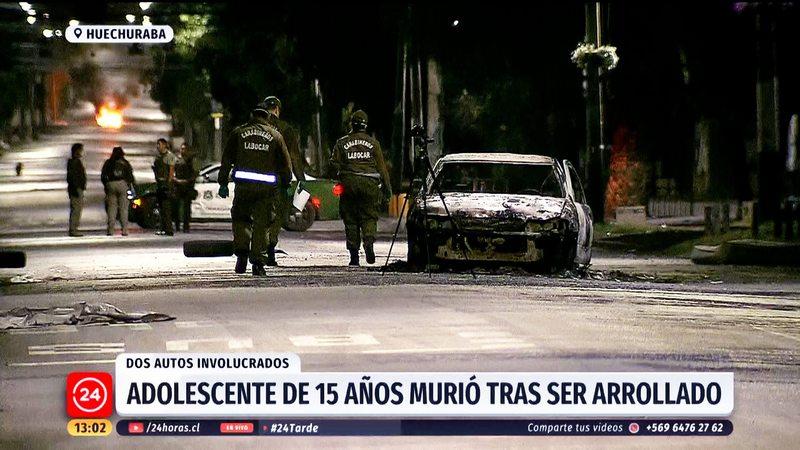 Adolescente de 15 años murió atropellado en barricada en Huechuraba