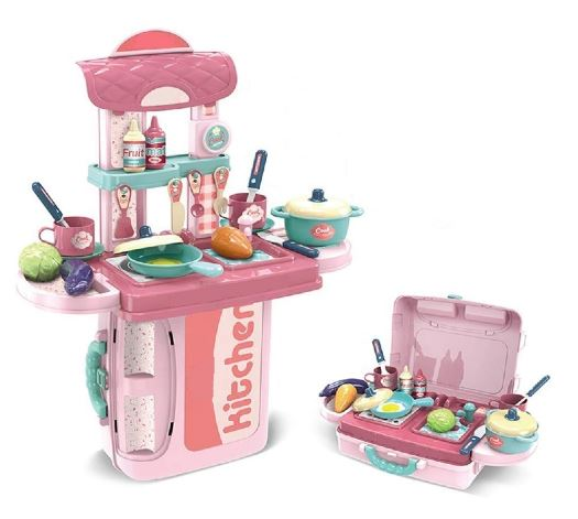 ESnipe Mart® Kitchen Set Trolly with Light and Music Toy for Kids