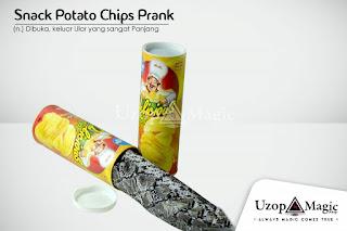 Jual alat sulap Snake Potato Chips Prank - Uzop Magicshop